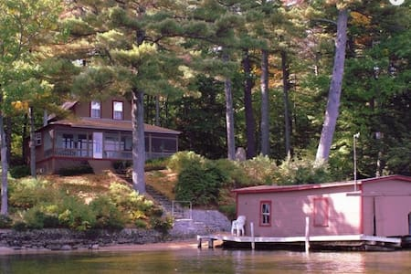 Winnipesaukee Lake House with Dock & Private Beach - Cabane