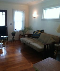 Charming older one bedroom house, with a full size bed, is comfortable for two. Pets are welcome and the backyard is fenced. Quiet neighborhood and minutes away from downtown Ferndale and Royal Oak. Close to major freeways.