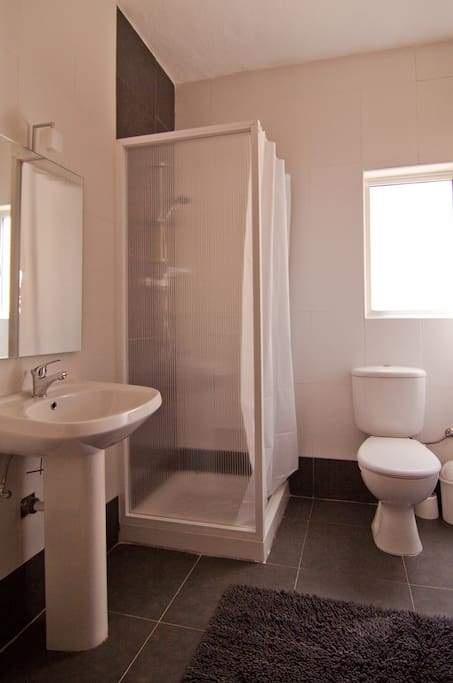 Modern and new WC and bathroom/shower