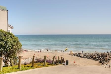 Quaint Private Beach Condo One Block Away - Oceanside