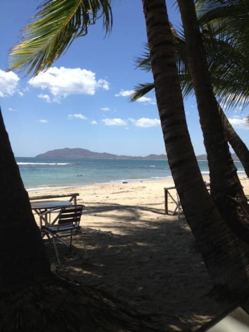 This is our beautiful Tamarindo beach.  This is taken from a bar on the beach!  ENJOY!!