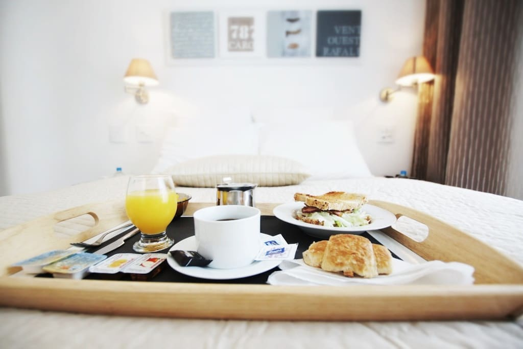 Breakfast can be brought in bed as well at your desired time