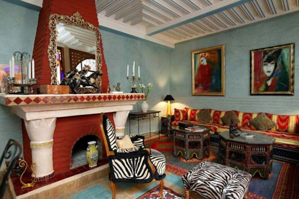The Riad's living Room