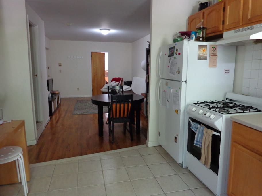 shared living room and kitchen with all ammenities including netflix, dvd player (sorry no cable)
