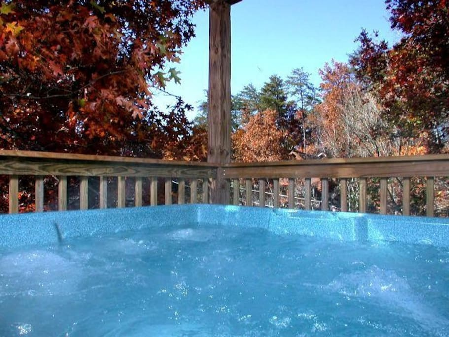 How about this Hot Tub with an autum view?