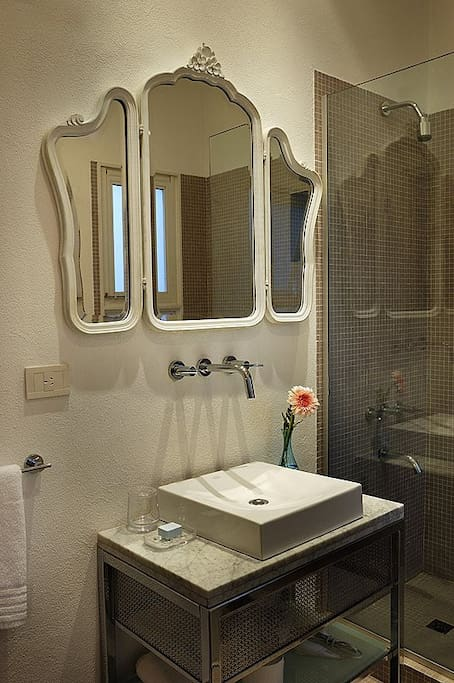 Bathroom (with windows facing the back of the building)