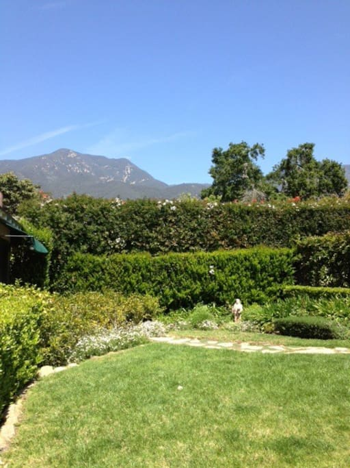 View from backyard approach, looking North at Santa Ynez Mountain Range