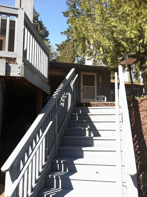 The front entry, shared staircase with #1-4.