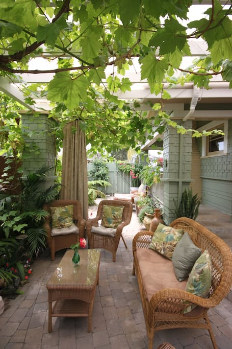 Another view of lush outdoor living area