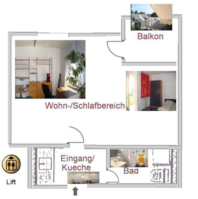 Holiday apartment near towncenter