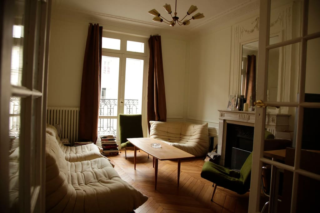 The comfy living-room with large sofas