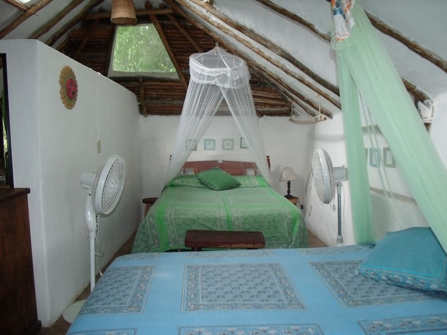 Casitas Kinsol Guesthouse in Puerto Morelos - near Cancun - Room #7 with 2 beds (1 full-size and 1 twin-size)