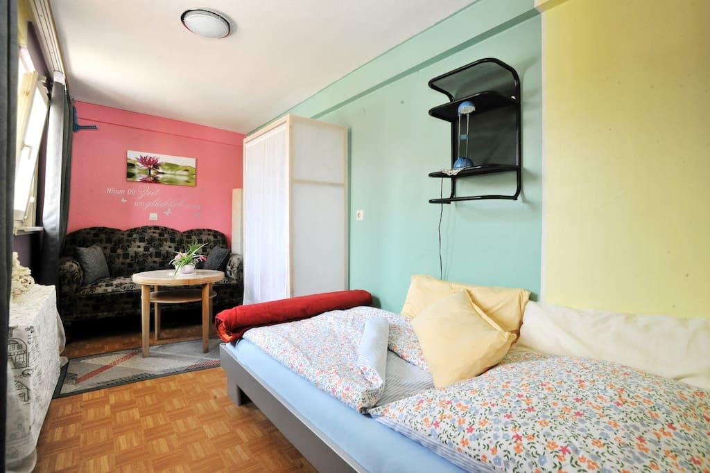Das Gästezimmer, hier ist jede Menge Ruhe und Erholung möglich!