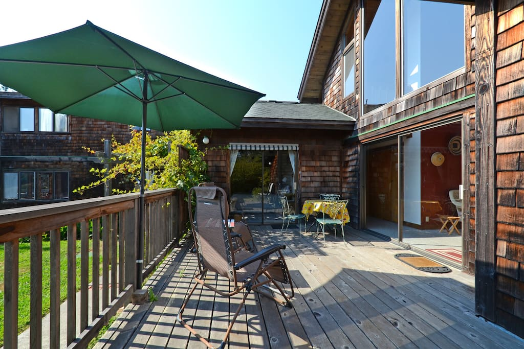 Enjoy sun all afternoon on the back deck.