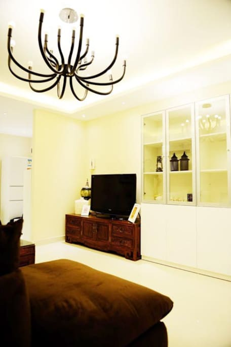 living room, all are new decorated.