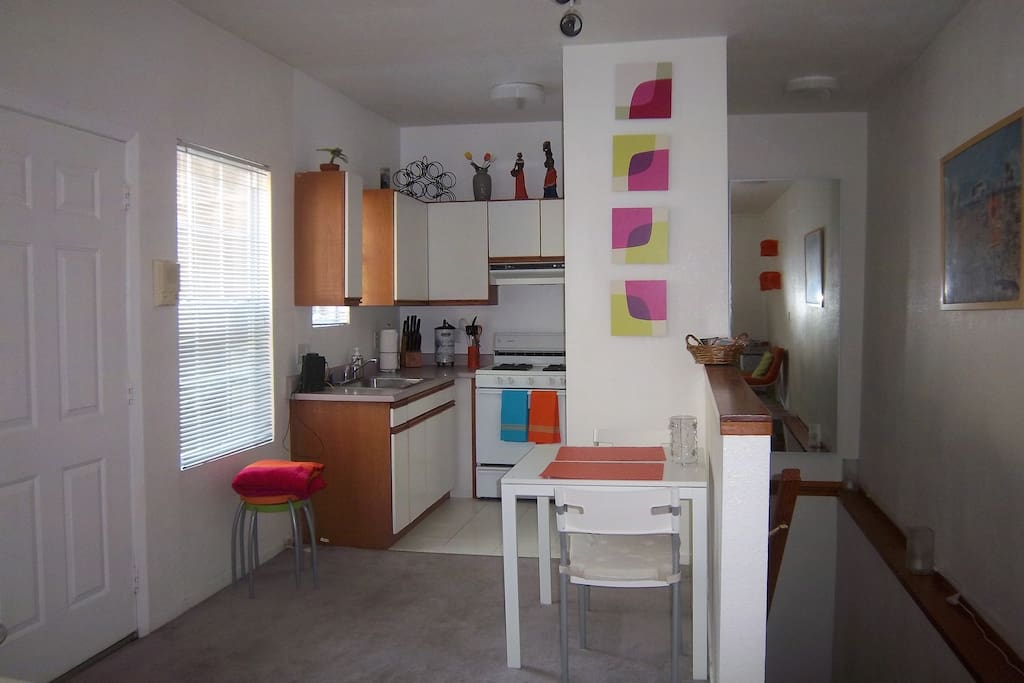 Bright, sunny kitchen.