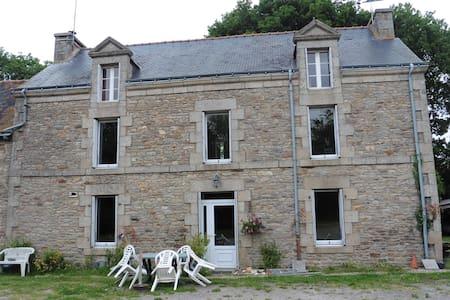 Chambre  pour une personne, lit de coin breton - Ev