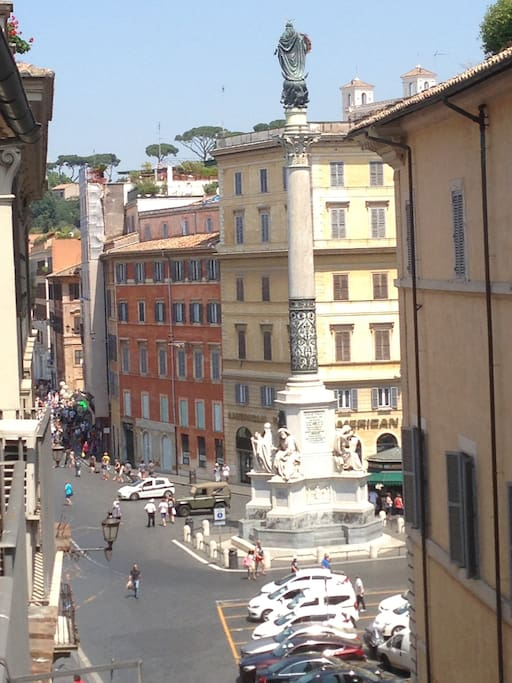 View on Spanish Steps Square from the balcony