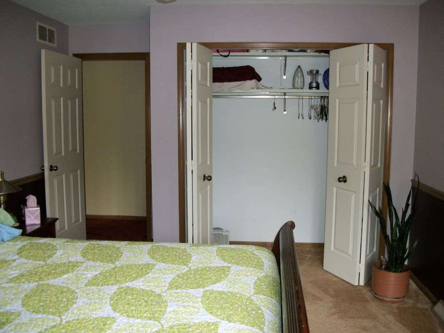 Full size closet for your belongings