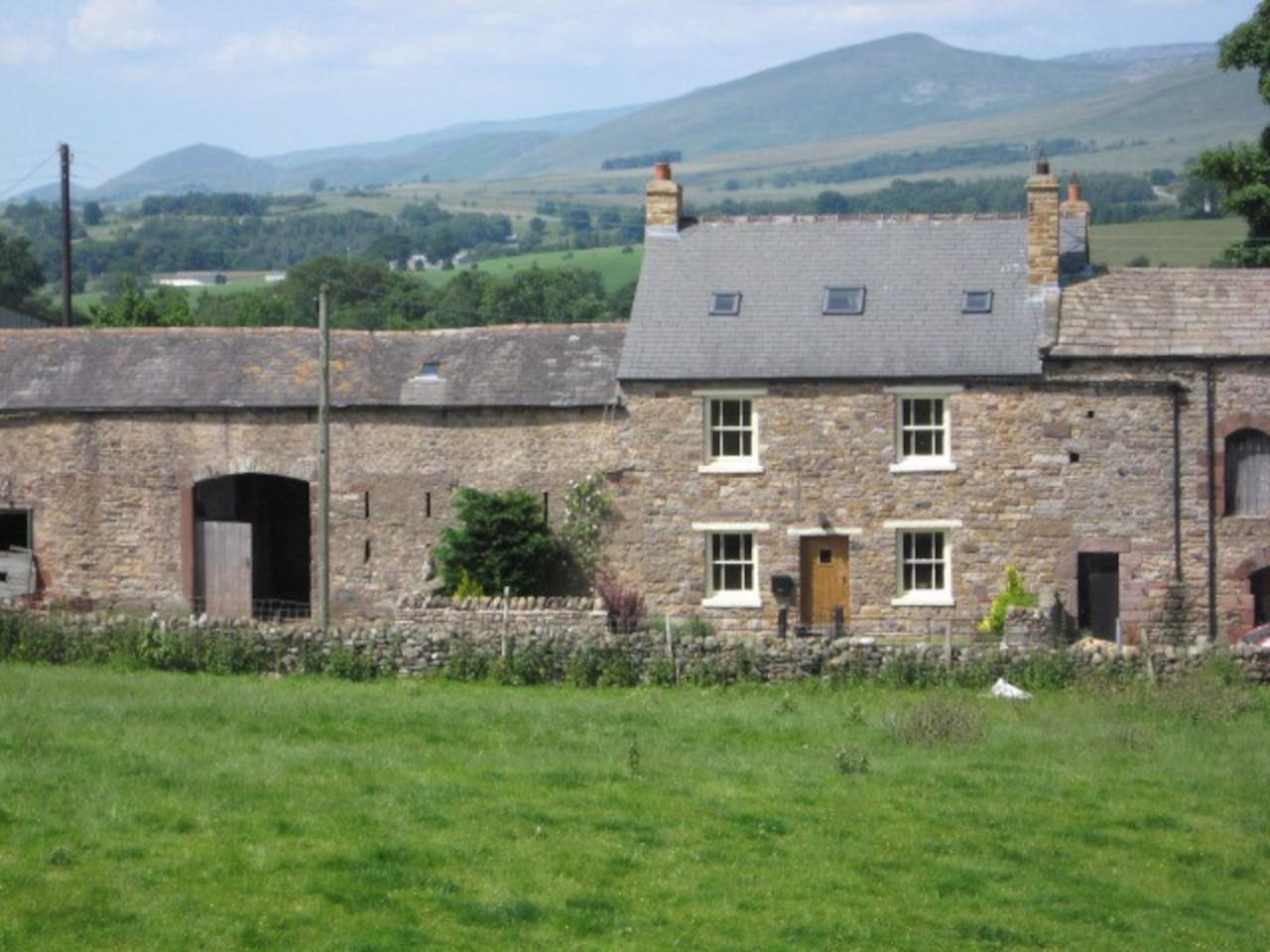 Musgrave House Farm with Pennine Hills beyond