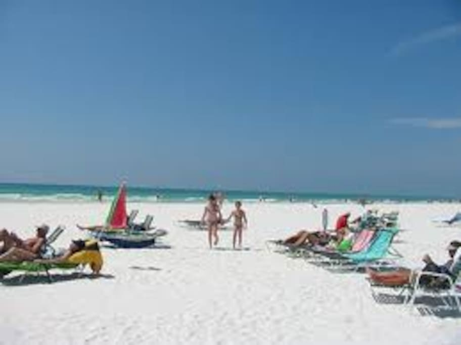 Siesta key public beach 100 ft from the house
