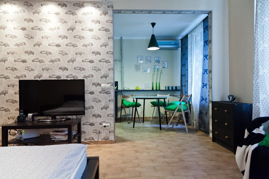 Comfortable studio in Belorusskaya