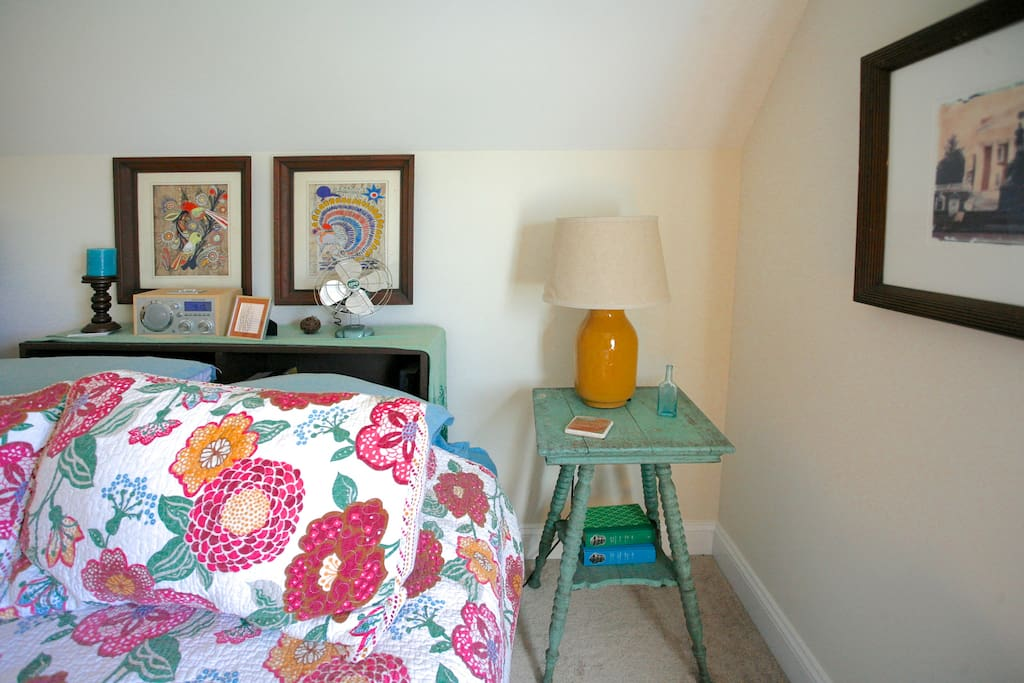 details and side table in guest room