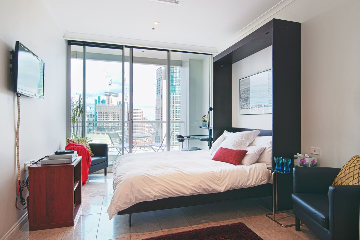 Room with a View, city apartment