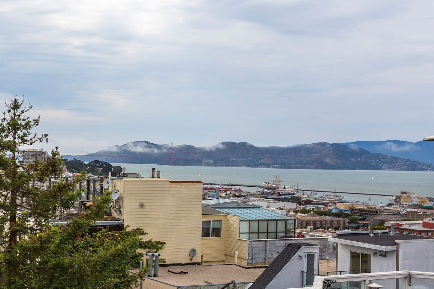 View of the Bay from the roof deck