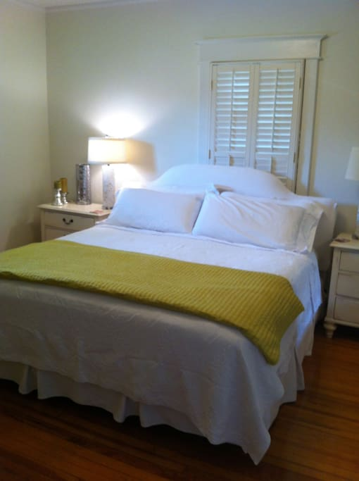 Master BR with King pillow top mattess.  Heated mattress pad in winter!