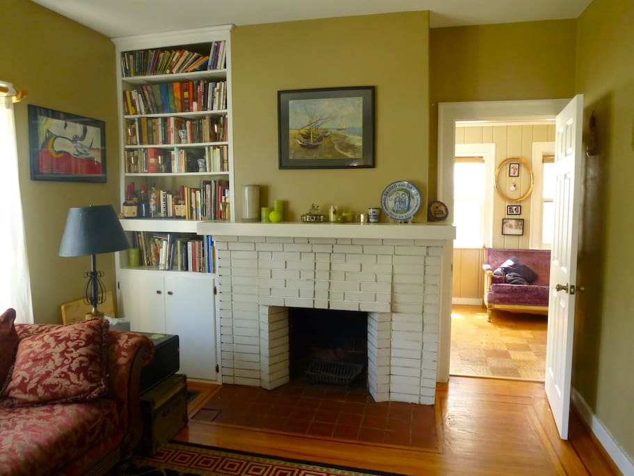Living room (fireplace is decorative).
