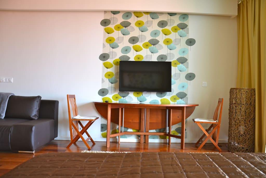Studio apartment,lake view& s.pool.