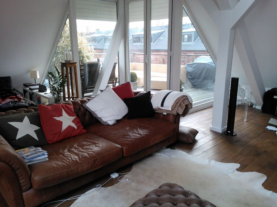 a big cosy couch to relax