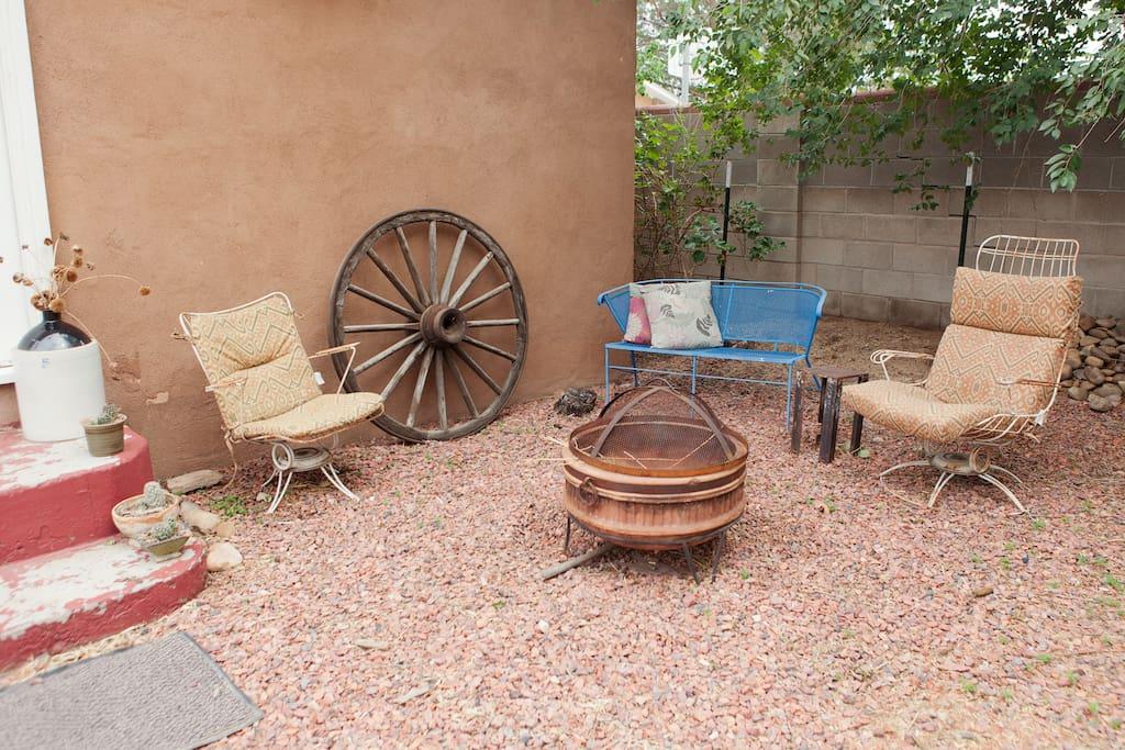 outside sitting area