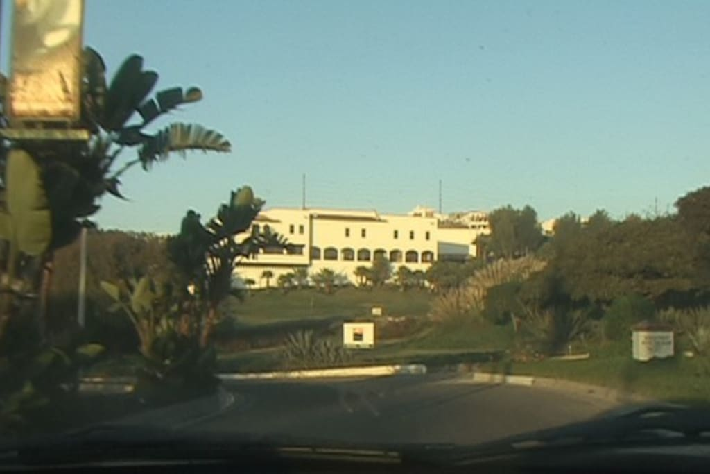 Entrance to our private community, pictured is the Real Del Mar Hotel