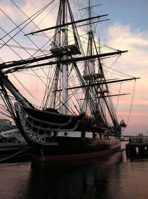 "USS Constitution ""Old Ironsides,"" nearby in our neighborhood of Charlestown, Boston's oldest neighborhood."