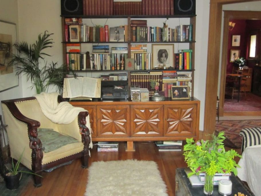 Living room facing east
