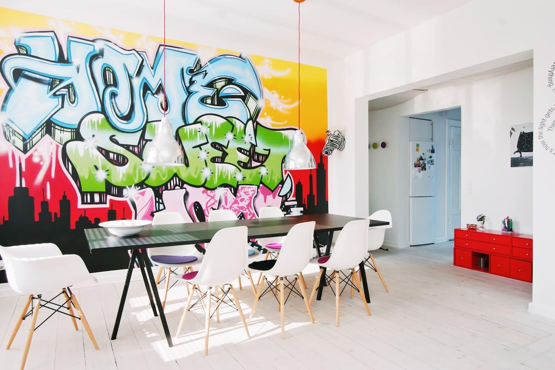 Jeg elsker min grafittivæg -Home sweet home !