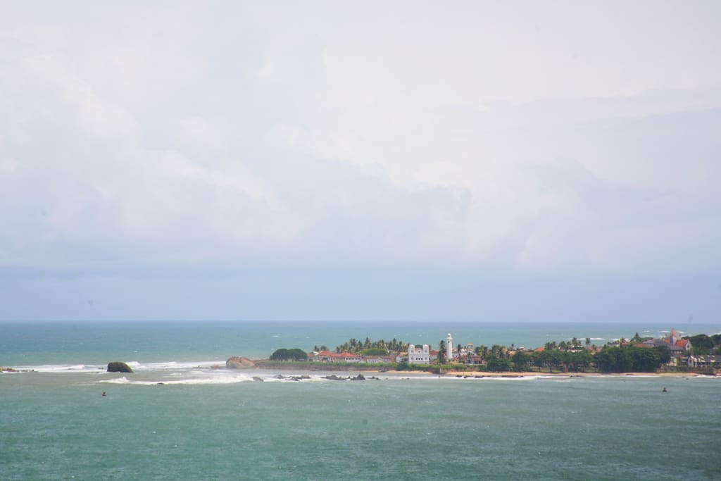 view from across the waters looking directly into the beautiful gallefort