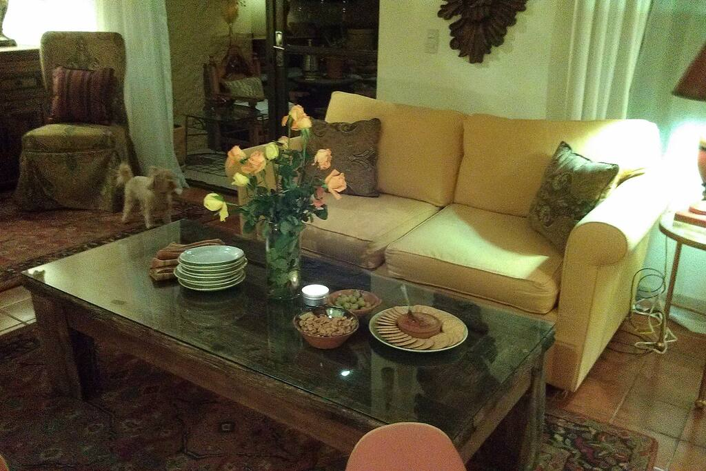 Comfortable furnishings, persian carpets and a lovely evening with friends.