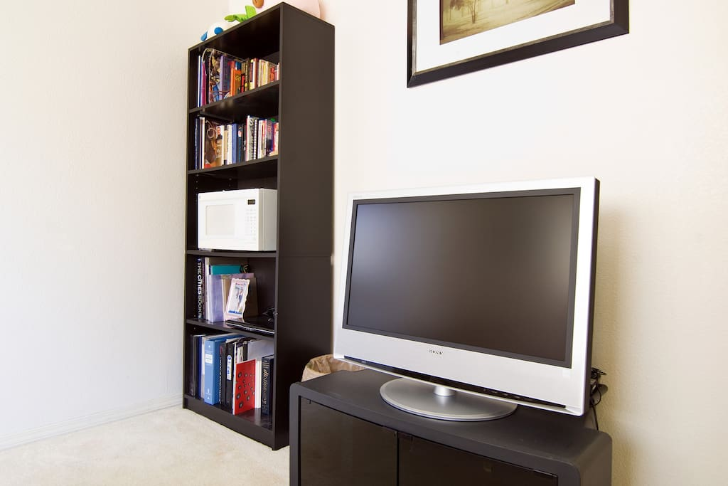 Books galore and TV for your personal use.