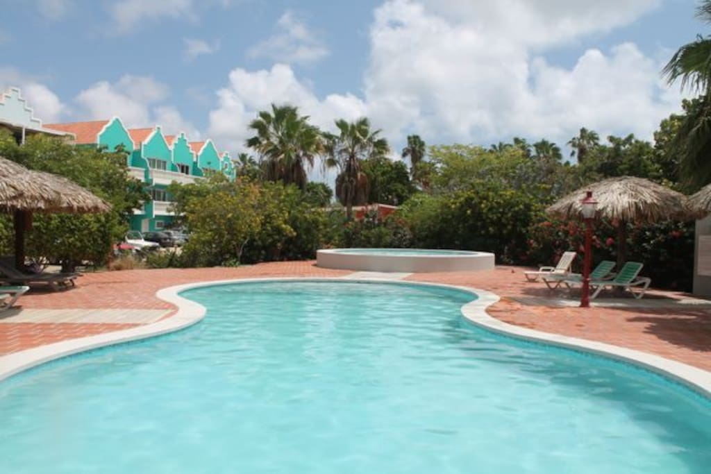 Breezy Bonaire Blue View apartment - at Caribbean Court apartments - walking distance to town and beaches, internet - top floor, screened in porch - all at budget prices!