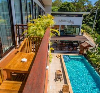 Fantastic 36sqm room for 3 w/ large balcony, pool - Rawai - Boetiekhotel