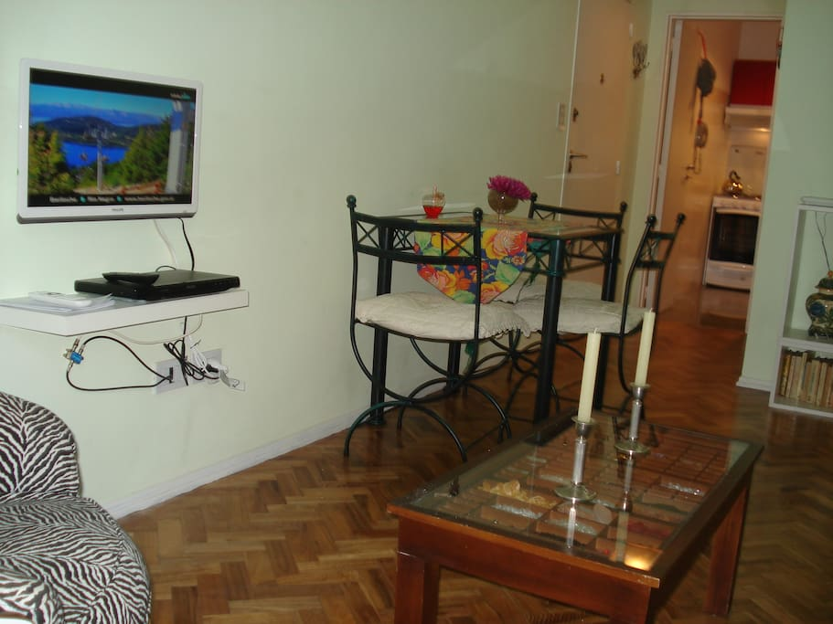 Living & Dinning area with TV & DVD