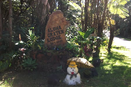 Aloha Crater Lodge and Lavatube - Volcano - Apartment