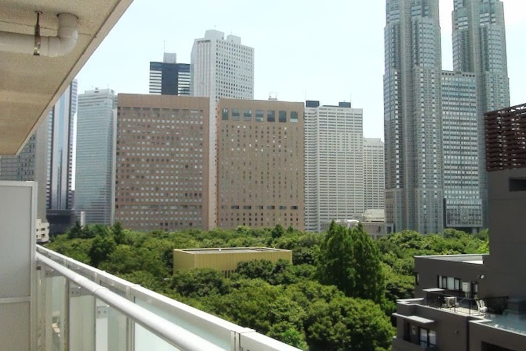 Balcony View (Shinjuku Central Park and Tokyo Metropolitan Govt Office)