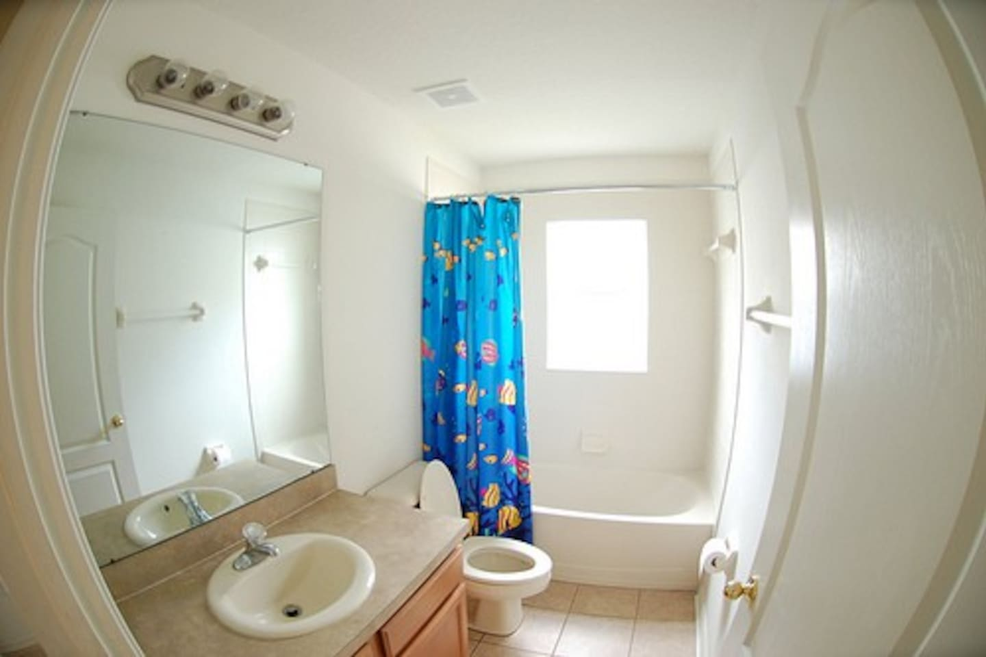 Bathroom.  Very clean and bright.