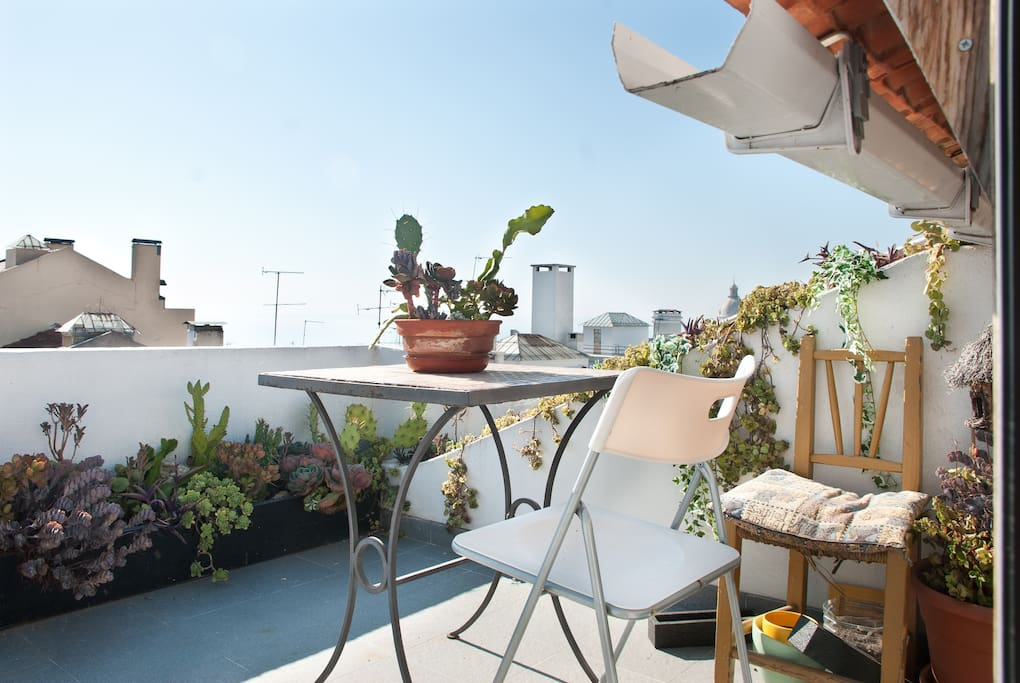 great private terrace overlooking the Tagus river