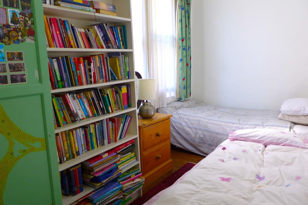 SINGLE ROOM 4.30m x 2.10m with extra-wide single bed (104cm) and single futon.
