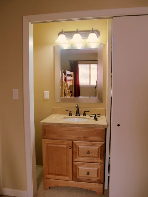 1/4 bath in 2nd bedroom - brand new